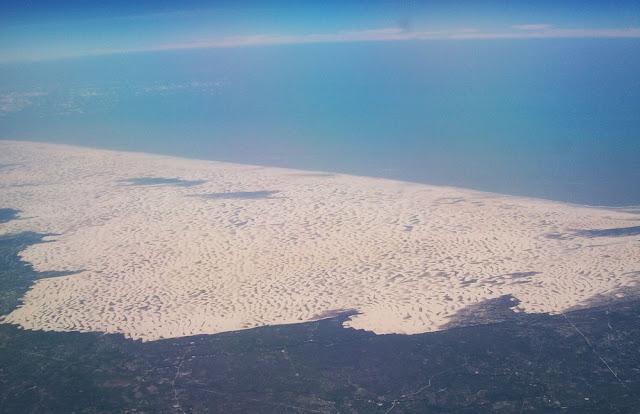 Vista aérea dos Lençóis Maranhenses