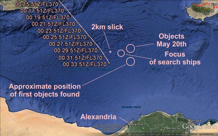 Mapa e trajetória do voo baseado em sinais de transponder Mode-S (Gráficos: AVH / Google Earth):
