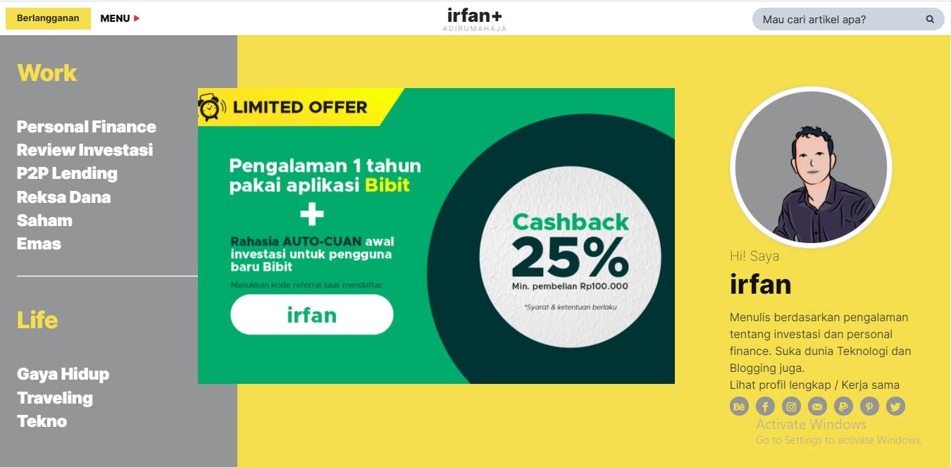 """Blog Finansial """"Irfan.id"""""""