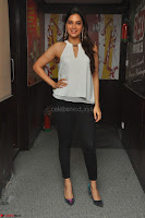 Tanya Hope in a whtie shirt and leggings at Song launch of Movie Patel Sir ~  Exclusive Celebrities Galleries 019.JPG
