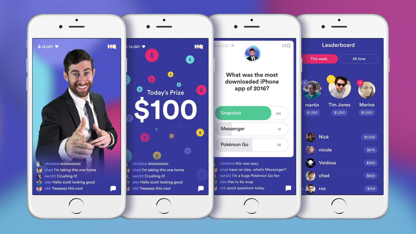 HQ is a primer trivia game