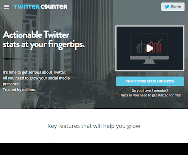 Twitter Counter is an easy-to-use social media tool for accurate and reliable feedback on your Twitter