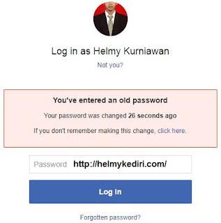 akun facebook dihack/dibajak