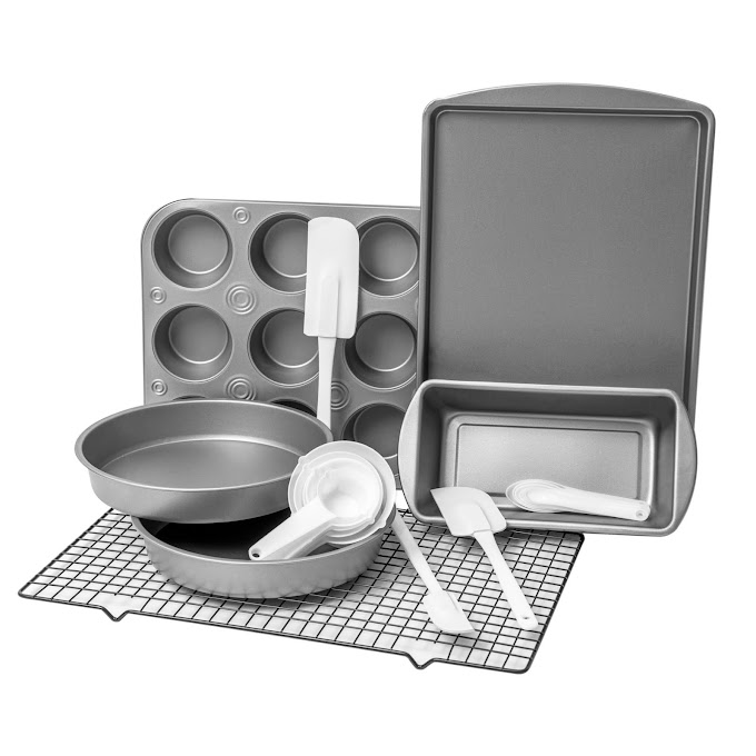 WALMART - BakerEze 20 Piece Bakeware Set with Cooling Rack & Baking Accessories