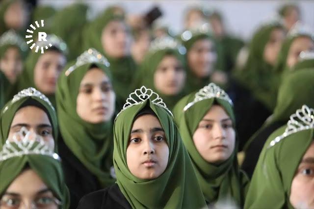 """فى كردستان """"المنسية"""".. تتويج 1357 فتاة بـ""""التاج الذهبي"""" تكريماً لارتدائهن الحجاب.. صور"""
