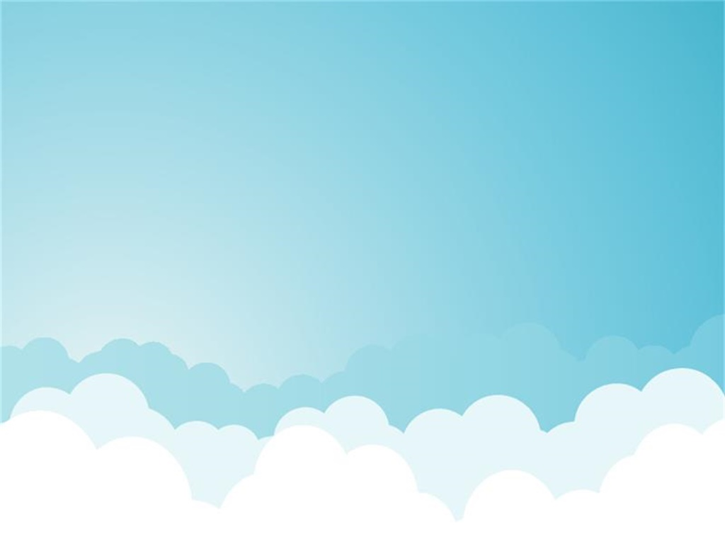 Blue sky and white clouds and elegant PPT background