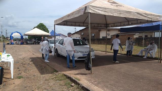 Deputado Jhony Paixão acompanha testagem rápida para a COVID-19 em Alvorada do Oeste