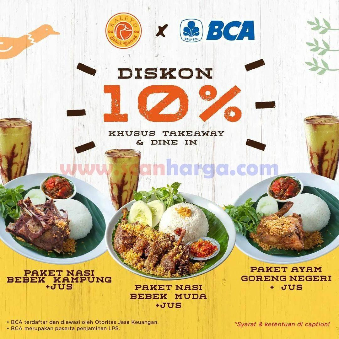 Promo Bebek Kaleyo Diskon 10% dengan Kartu Kredit BCA