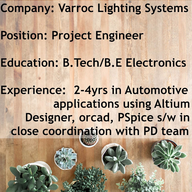 (Job) - Varroc Lighting Systems, Pune | Project Engineer(2-4yrs)