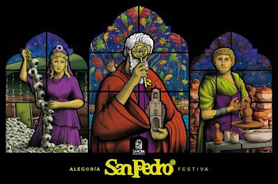 tríptico vidrieras San Pedro