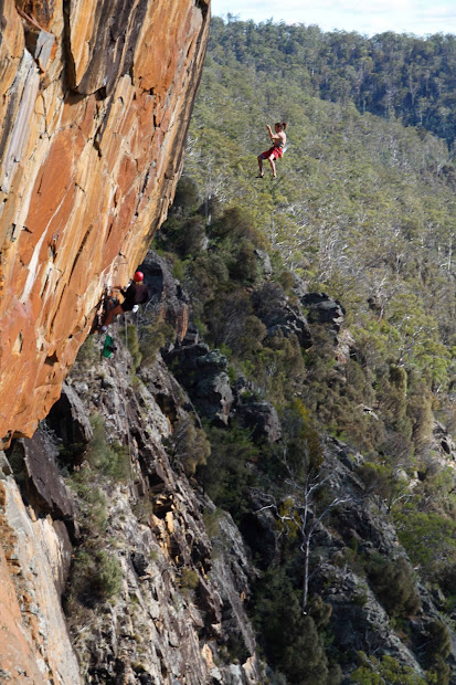 Tasmania Extreme Climbing Bare Rock Fingal