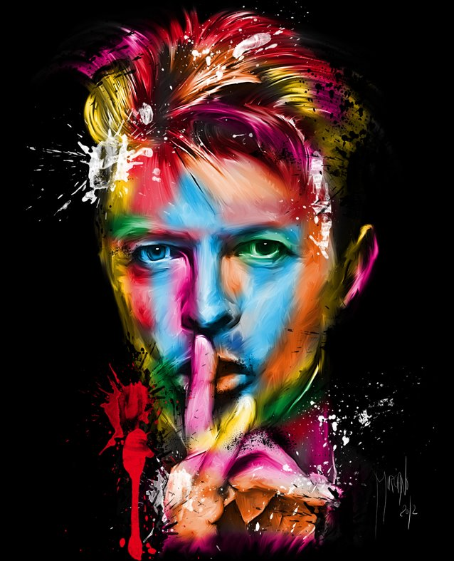 David Bowie| Patrice Murciano 1969 | French Figurative painter | Pop Art portrait