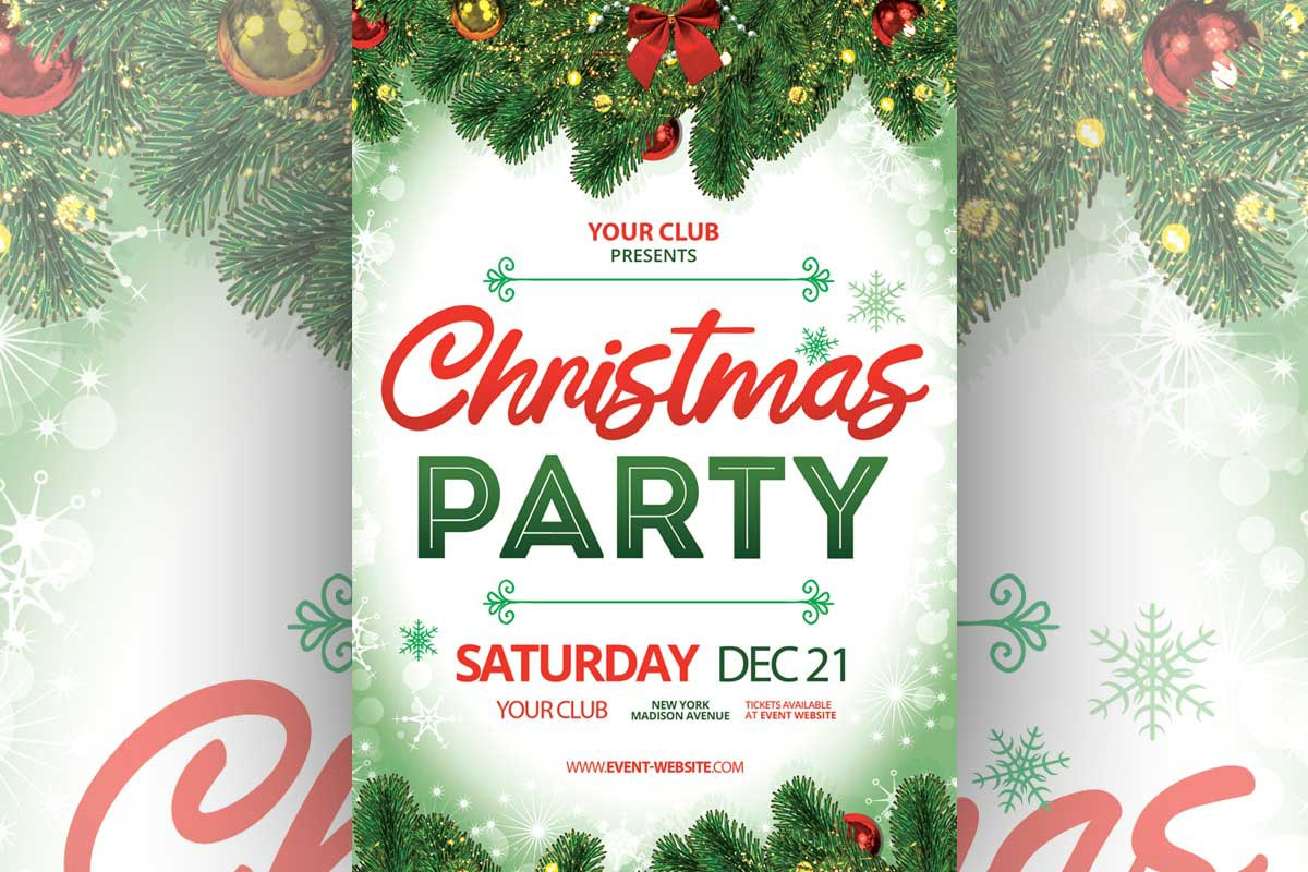 Elegant Christmas Party Flyer Free