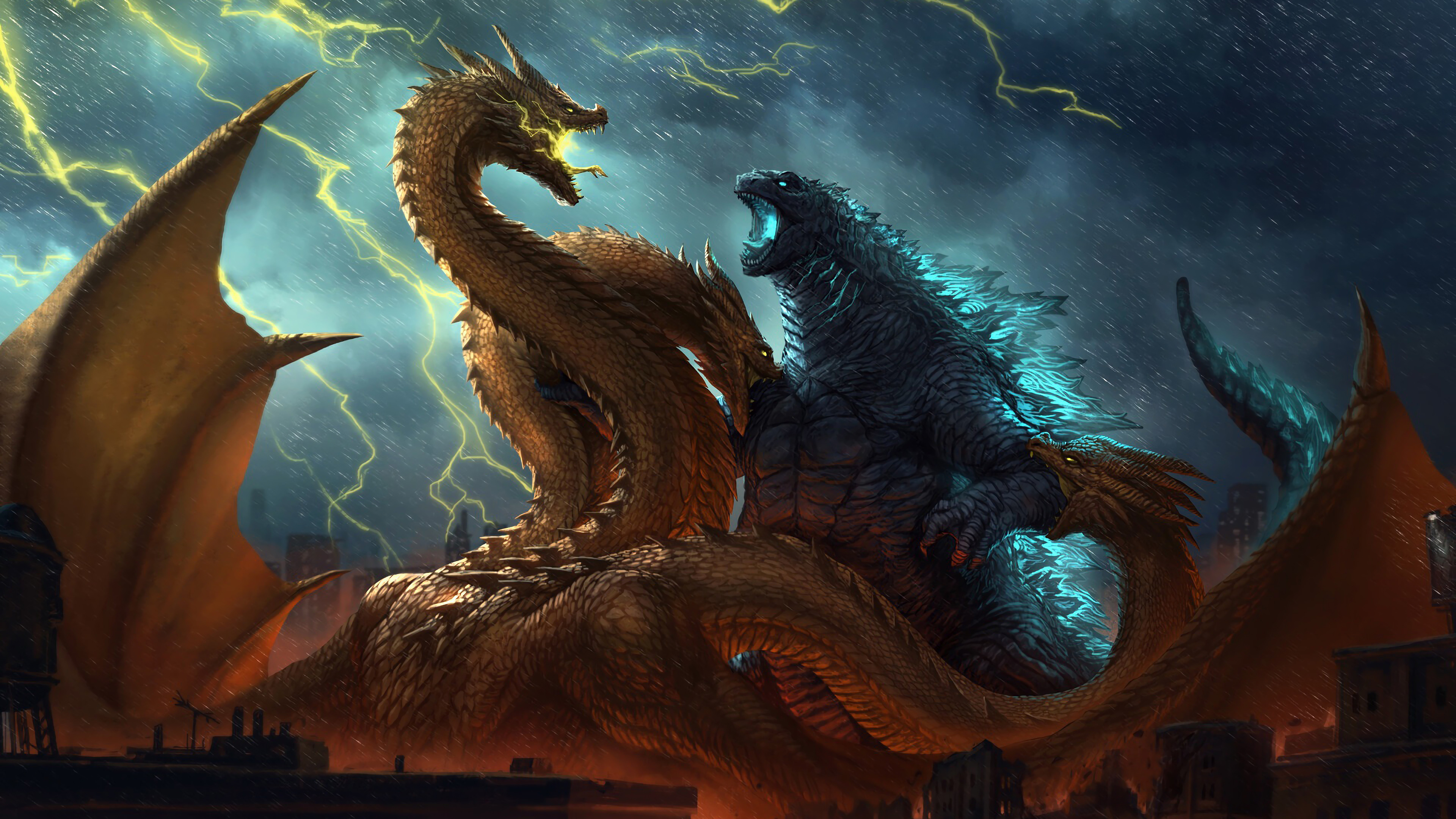 Godzilla Vs King Ghidorah Godzilla King Of The Monsters