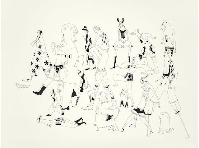 Ilustración mascarade 2 realizada por la artista suiza Albertine