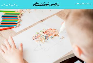 Plano de aula Atividade artes na Educação Infantil com aparas de lápis de cor