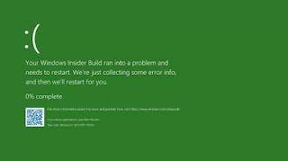 Baru Di Windows 10 Green Screen Of Death