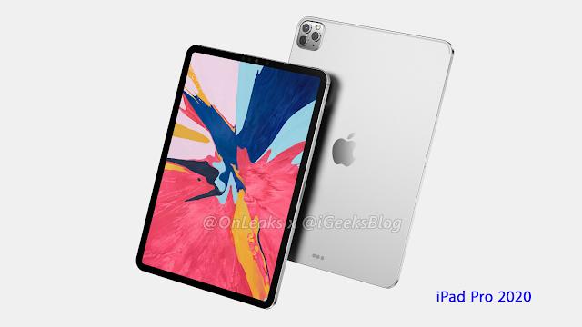 الجهاز اللوحي iPad Pro 2020.. أخر التسريبات عن التصميم والمواصفات التقنية (فيديو 360 درجة)..