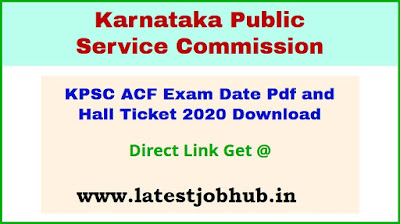 KPSC ACF Mains Hall Ticket 2021