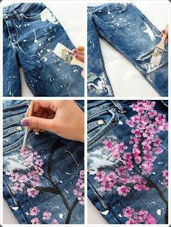 Elişi Kumaş Boya ile Pantolon Süslemesi Yapımı, Resimli Açıklamalı 1