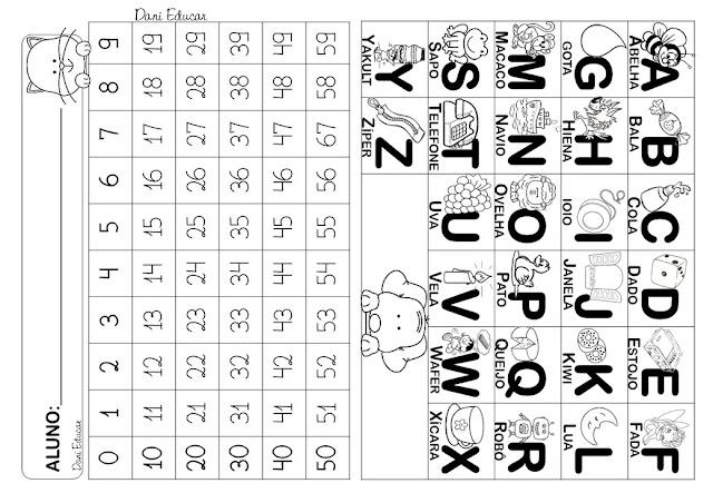 Confira nesta postagem Tabela de alfabeto e numerais para imprimir.