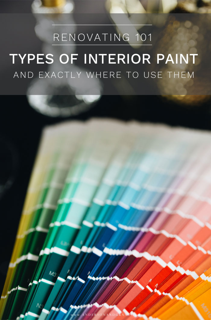 Types of Interior Paint and Where to Use Them