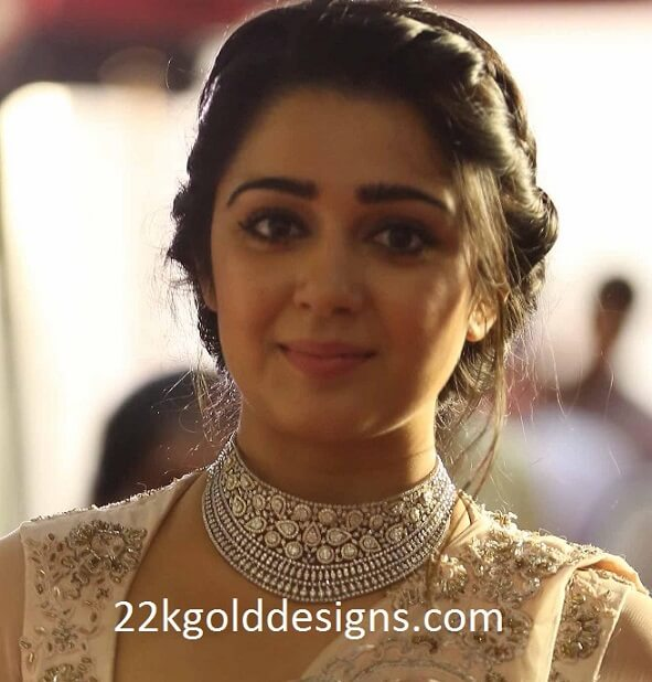 Charmme Kaur in Diamond Choker Necklace