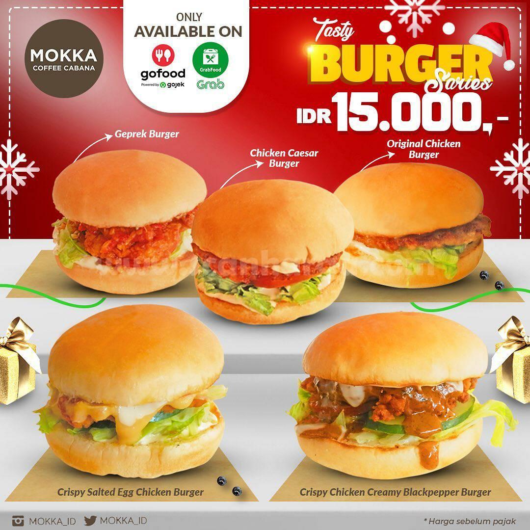 Promo Mokka Coffee Cabana Tasty Burger Series harga Hanya Rp 15.000,-