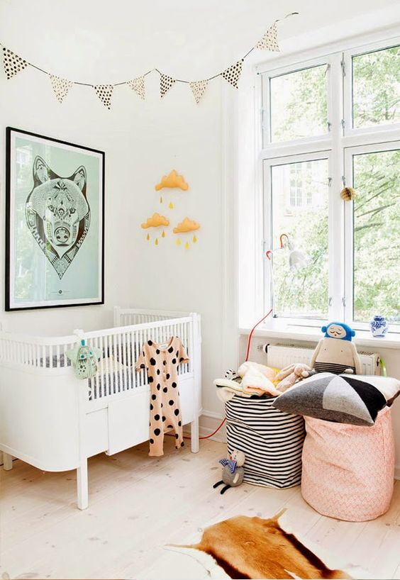 10 nursery in stile scandinavo