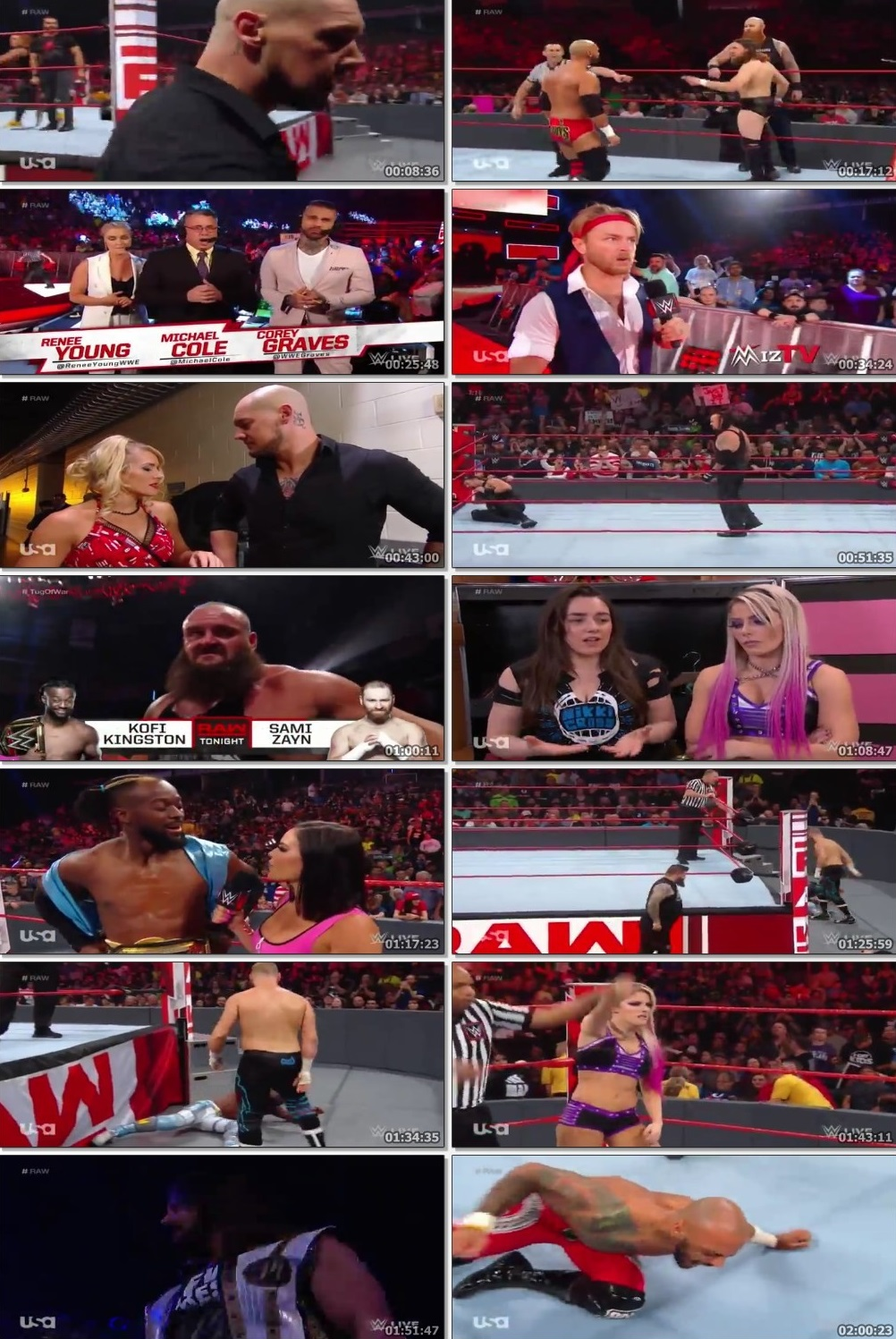 Screen Shot Of Wrestling TV Show WWE Monday Night Raw 24th June Watch Online Free Download
