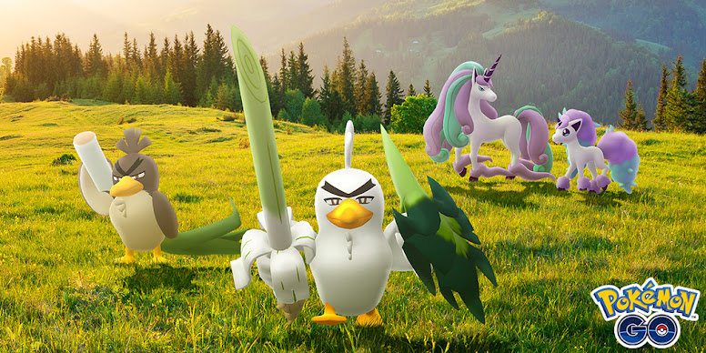 Sirfetch'd e Ponyta de Galar Pokémon GO