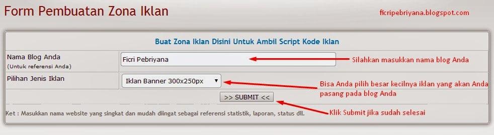 Memasang Iklan Pada Blog Dari IklanBlogger.com 8 - Ficri Pebriyana