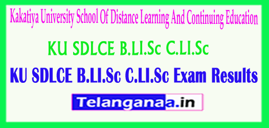 KU SDLCE B.LI.Sc & C.LI.Sc School Of Distance Learning And Continuing Education 2018 Exam Results