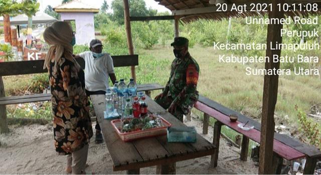 Dengan Cara Komsos, Personel Jajaran Kodim 0208/Asahan Jalinan Silaturahmi Dengan Pedagang