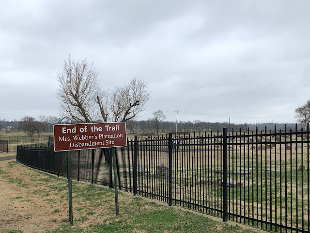 sign marking the end of the Trail of Tears