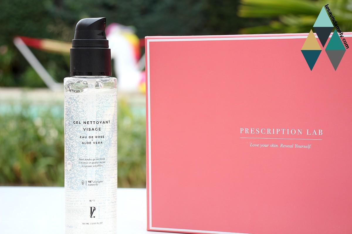 revue beauté gel nettoyant visage eau de rose aloe vera prescription lab