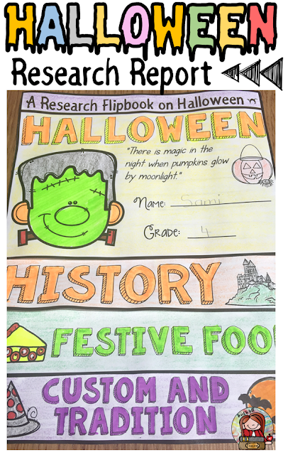 Halloween themed classroom Display Banner: HALLOWEEN RESEARCH ON FACTS