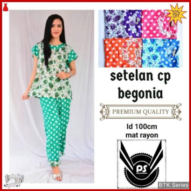 BTK087 Baju Setelan Cp Begonia Modis Murah BMGShop