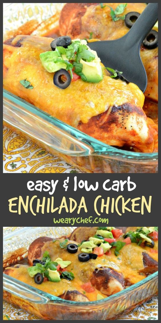 Delicious Enchilada Chicken Bake