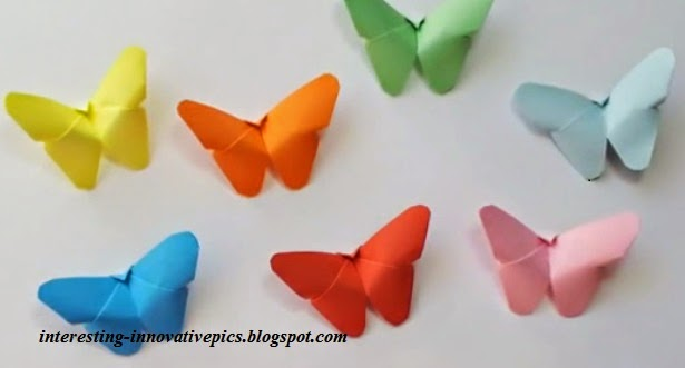 DIY colorful Paper Butterfly craft for Kids or decorations
