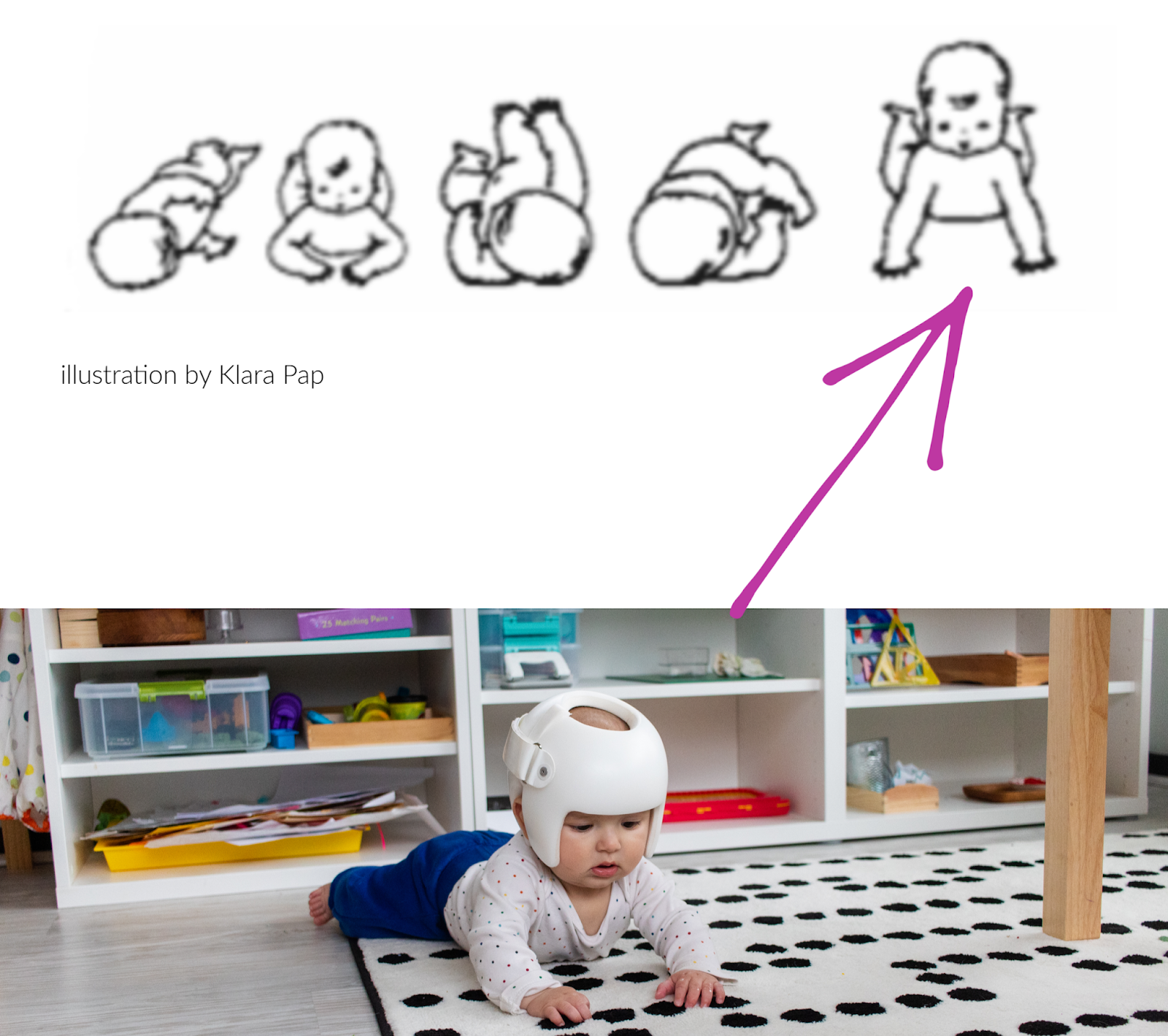 Montessori baby activities don't always need to be about the toys. Sometimes it's more important to sit back and observe little milestones, like all the beautiful natural gross motor movements that come from following the child.
