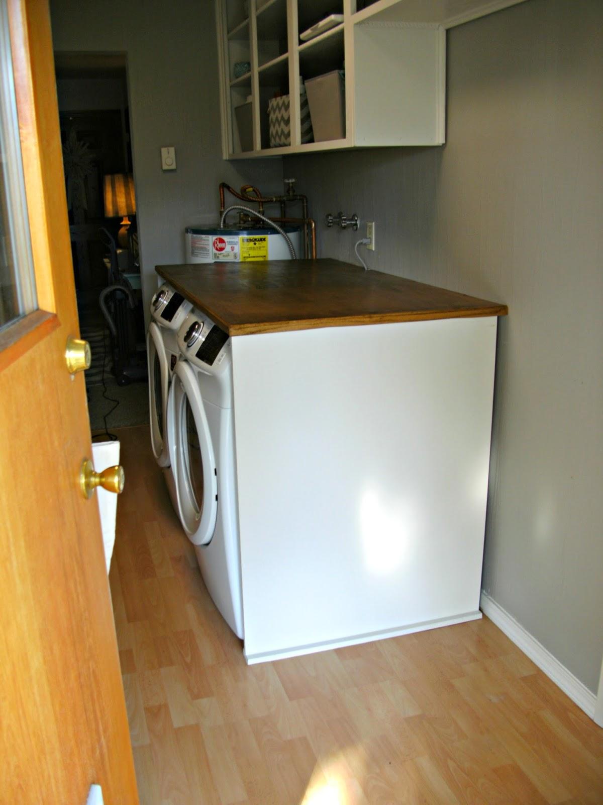 Laundry Room Redo DIY Laundry Folding Table Little Vintage Cottage