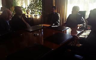 Ο Υπουργός Δικαιοσύνης Παρασκευόπουλος, ο Γενικός Γραμματέας Ανθρωπίνων Δικαιωμάτων κ. Παπαϊωάννου, ο Βαγγέλης Αυγουλάς, ο Ηλίας Μαργιόλας και Νίκος Γιαλούρης