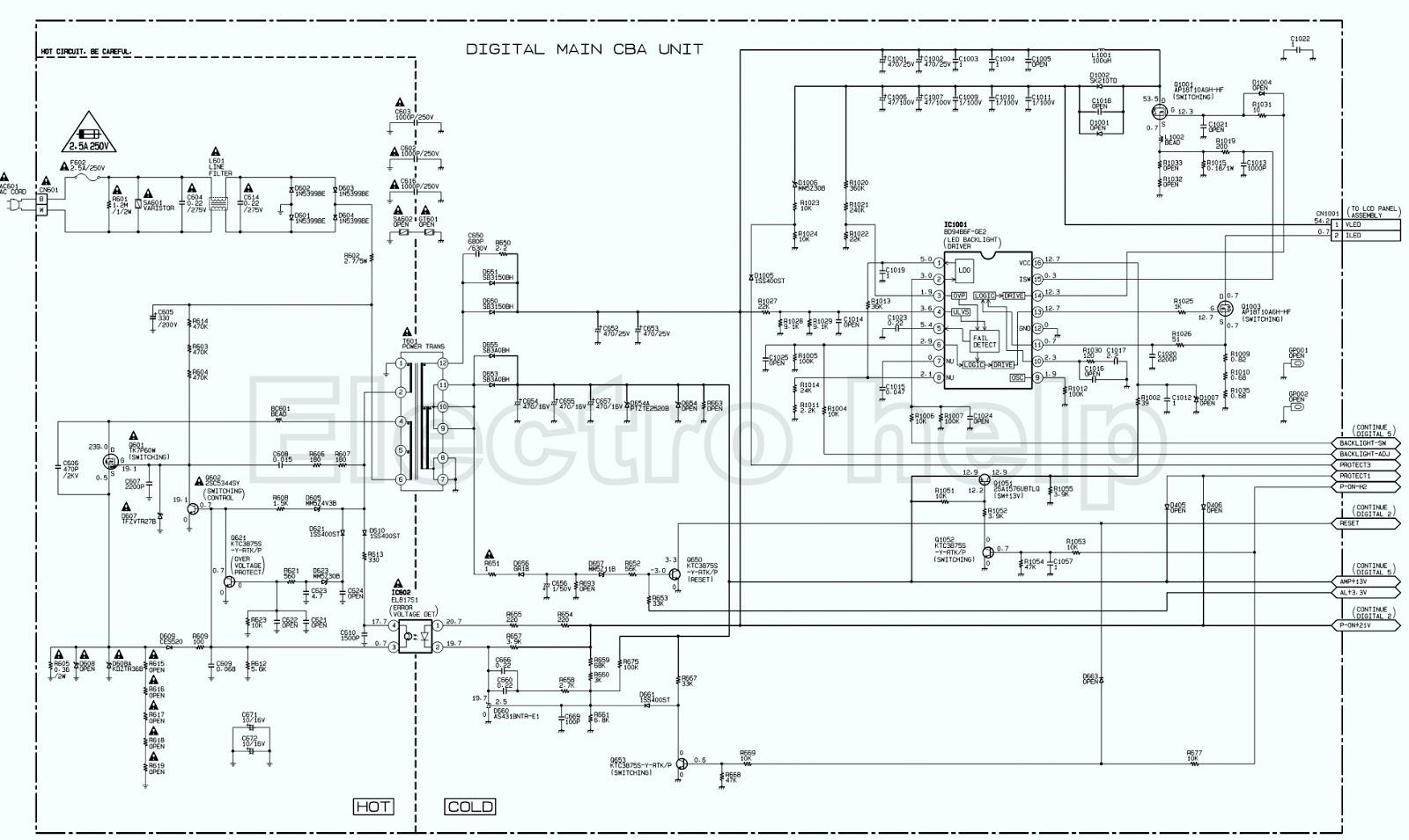 Electronic gas detector: Smps circuit diagram