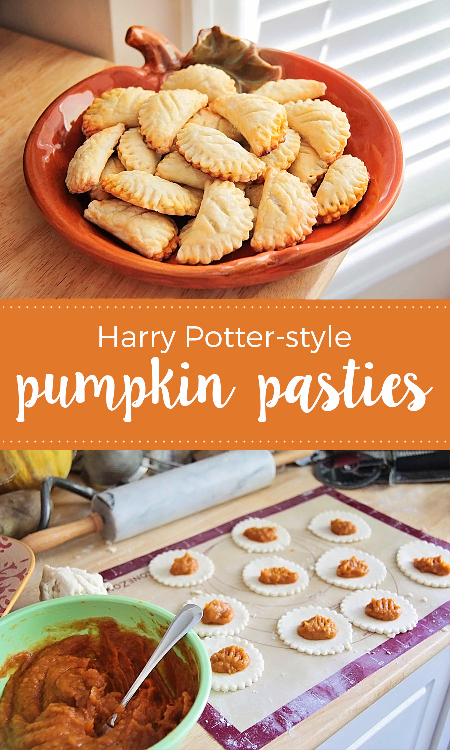 These delicious and sweet Harry Potter-style pumpkin pasties are so easy to make at home!