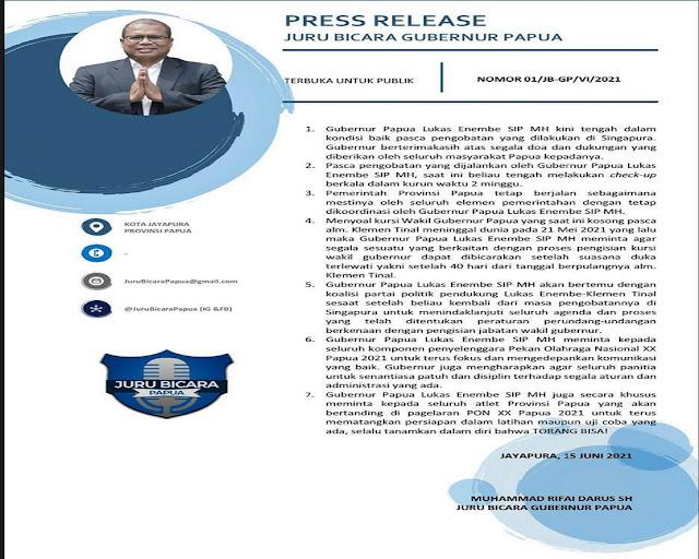 Lukas Enembe Sebut Perdebatan Jabatan Kursi Wakil Gubernur Papua Tidak Tepat.lelemuku.com.jpg