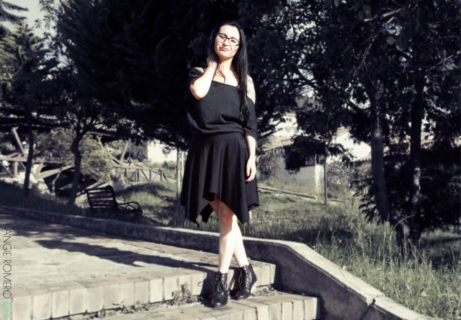 Looks de inspiración gothic - rock todo negro