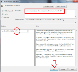 Cara Membatasi Bandwidth Tanpa Software