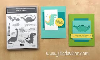 "16 Alternative ""Get & Go"" Project Ideas ~ Stampin' Up! Dino Days Cards ~  www.juliedavison.com #stampinup"
