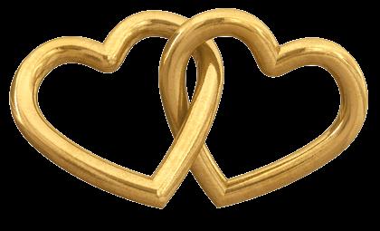 Heart Design Gold Rings
